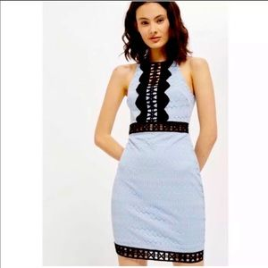 NWT Topshop cutout crotchet lace dress size 8